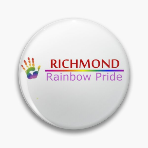 Richmond Rainbow Pride Logo Pin
