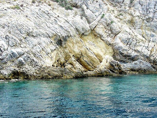 The Rocky Coastline Around Skiathos. Greece by lynn carter