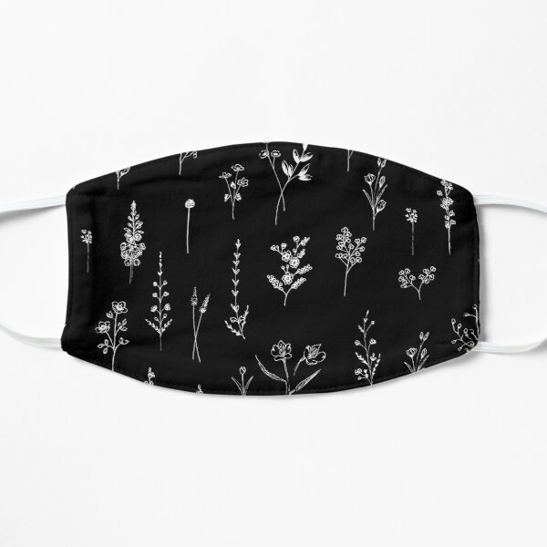 Black wildflowers Mask