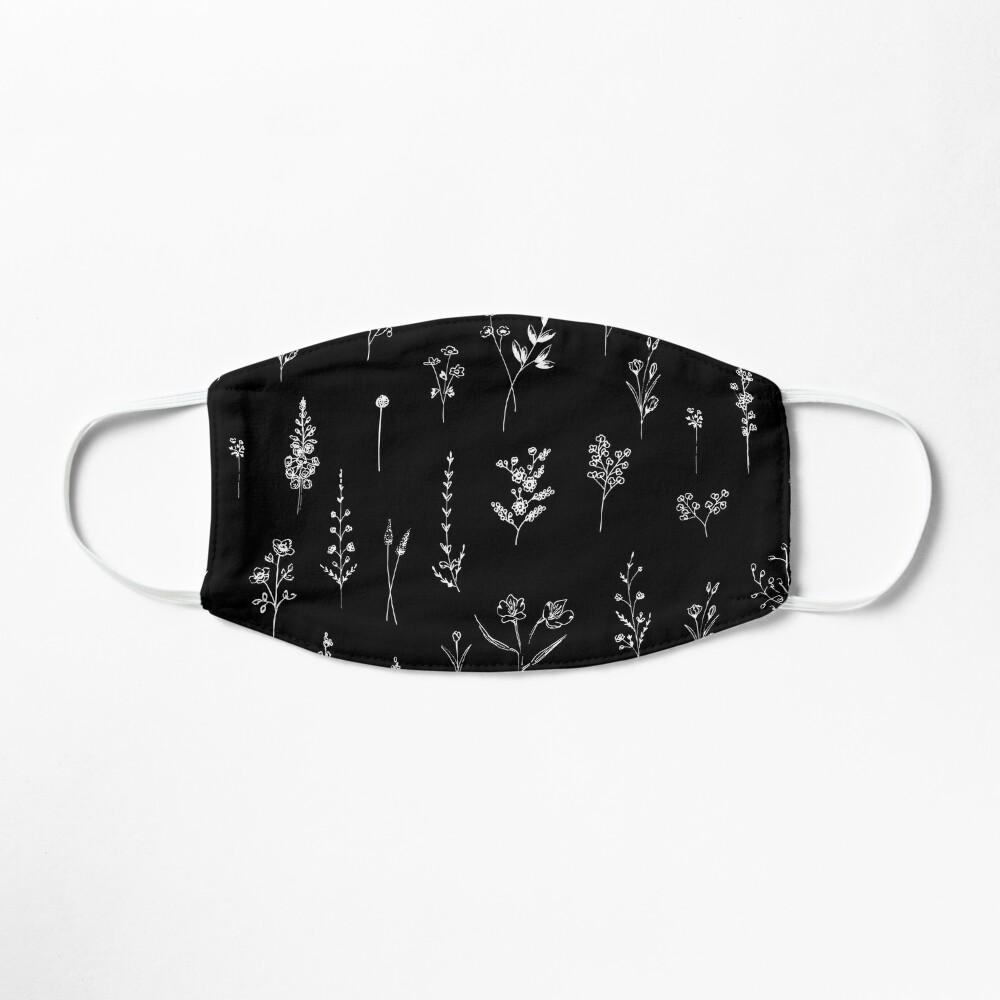 Black wildflowers Mask