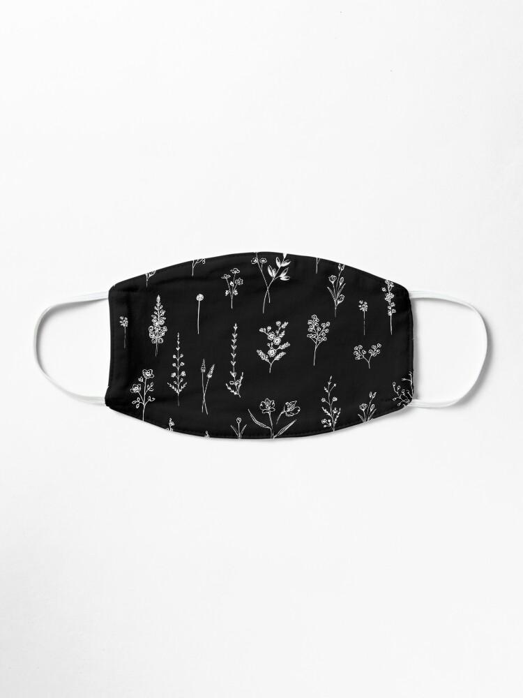 Alternate view of Black wildflowers Mask
