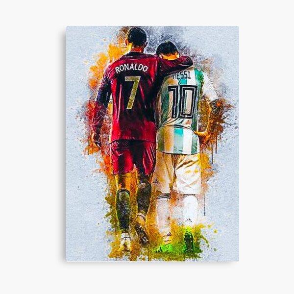 Messi and Ronaldo Canvas Print