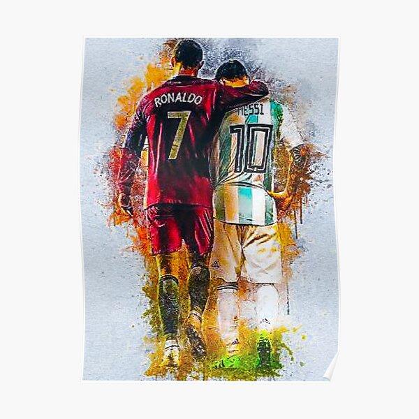 Messi und Ronaldo Poster