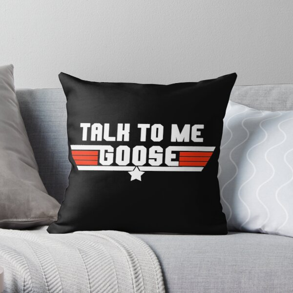 Talk To Me Goose Logo Design Throw Pillow