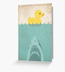 Jaws Rubber Duck Greeting Card