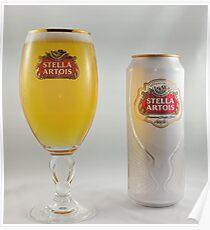 Stella Artois - Full glass Poster