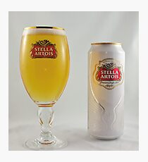 Stella Artois - Full glass Photographic Print