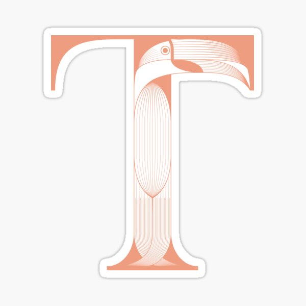 Letter T stands for Toucan Sticker