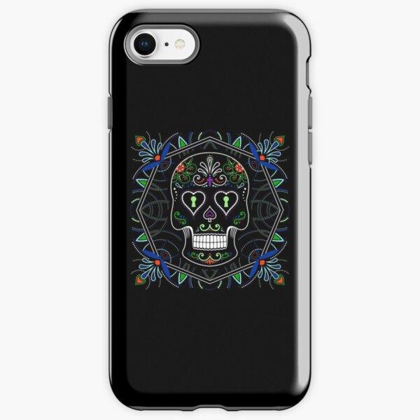 Mexican Calavera Skull Mandala - Day of the Dead iPhone Tough Case
