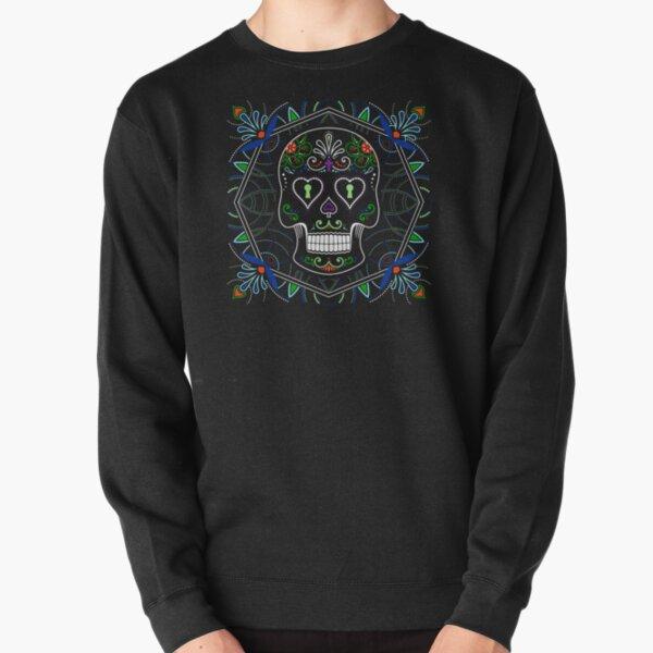 Mexican Calavera Skull Mandala - Day of the Dead Pullover Sweatshirt