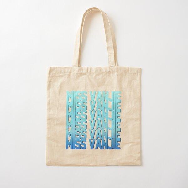 Miss Vanjie! (10) - Sea blue gradient (blue 1) Cotton Tote Bag