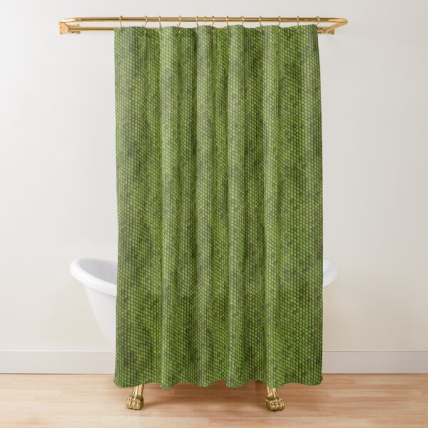 Green Lizard Skin Pattern Design Shower Curtain