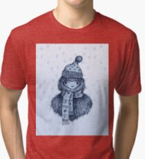 Holiday Squatch Tri-blend T-Shirt