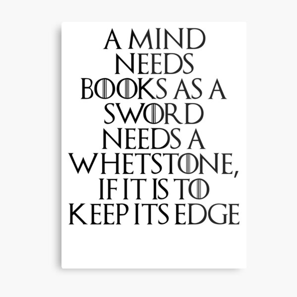 Tyrion Lannister - quote Metal Print