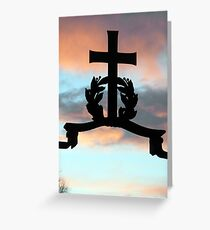 151 - CROSS AT LANCHESTER (D.E. 2012) Greeting Card
