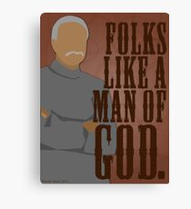 Shepherd Book - Folks Like a Man of God Canvas Print