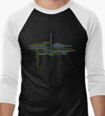 Typography Tee 3 Men's Baseball ¾ T-Shirt