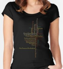 Typography Tee 4 Women's Fitted Scoop T-Shirt