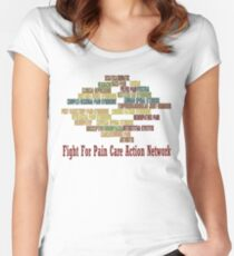 Typography Tee 9 Women's Fitted Scoop T-Shirt