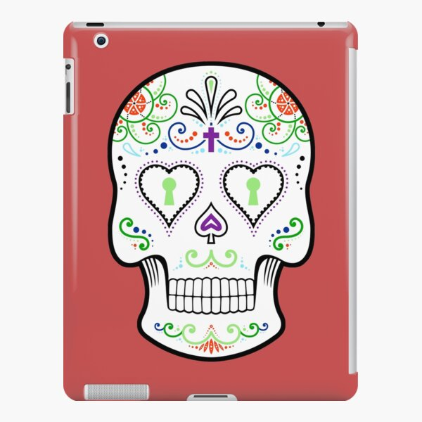 Mexican Calavera Skull White - Day of the Dead iPad Snap Case