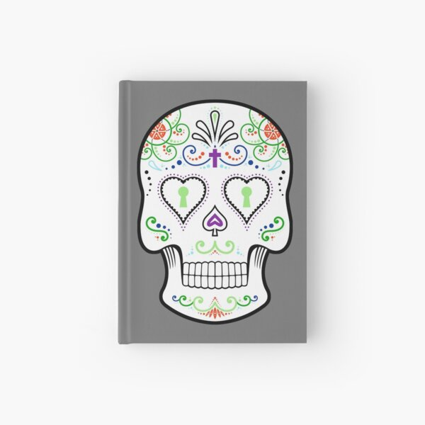 Mexican Calavera Skull White - Day of the Dead Hardcover Journal