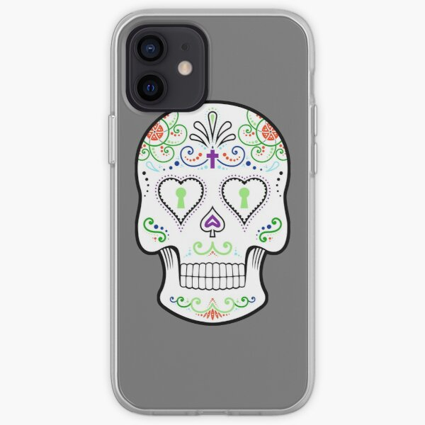 Mexican Calavera Skull White - Day of the Dead iPhone Soft Case