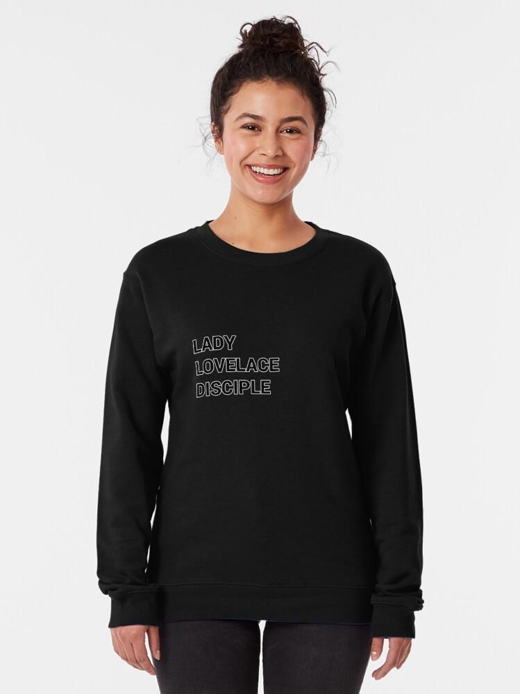 Alternate view of Lady Lovelace disciple Girl Programmer Pullover Sweatshirt