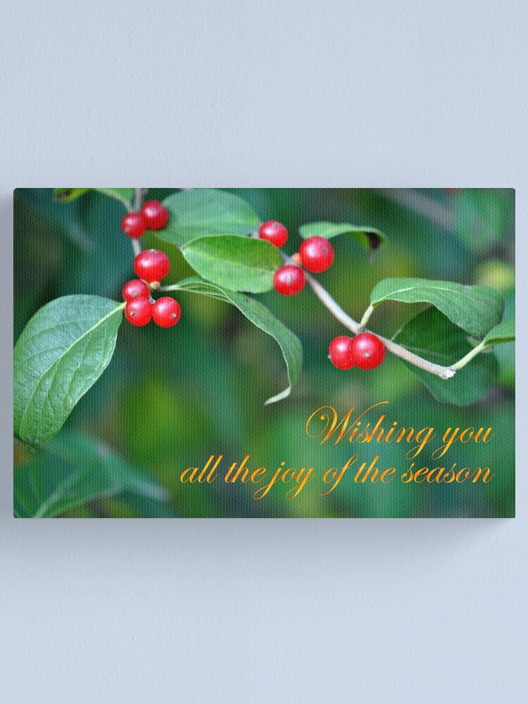 Alternate view of Berries--Holiday Card Canvas Print