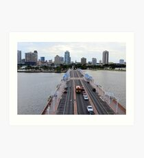 "View of St. Petersburg, Florida, from ""The Pier"" Art Print"