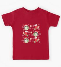 Penguin and Christmas Stockings #1 Kids Tee