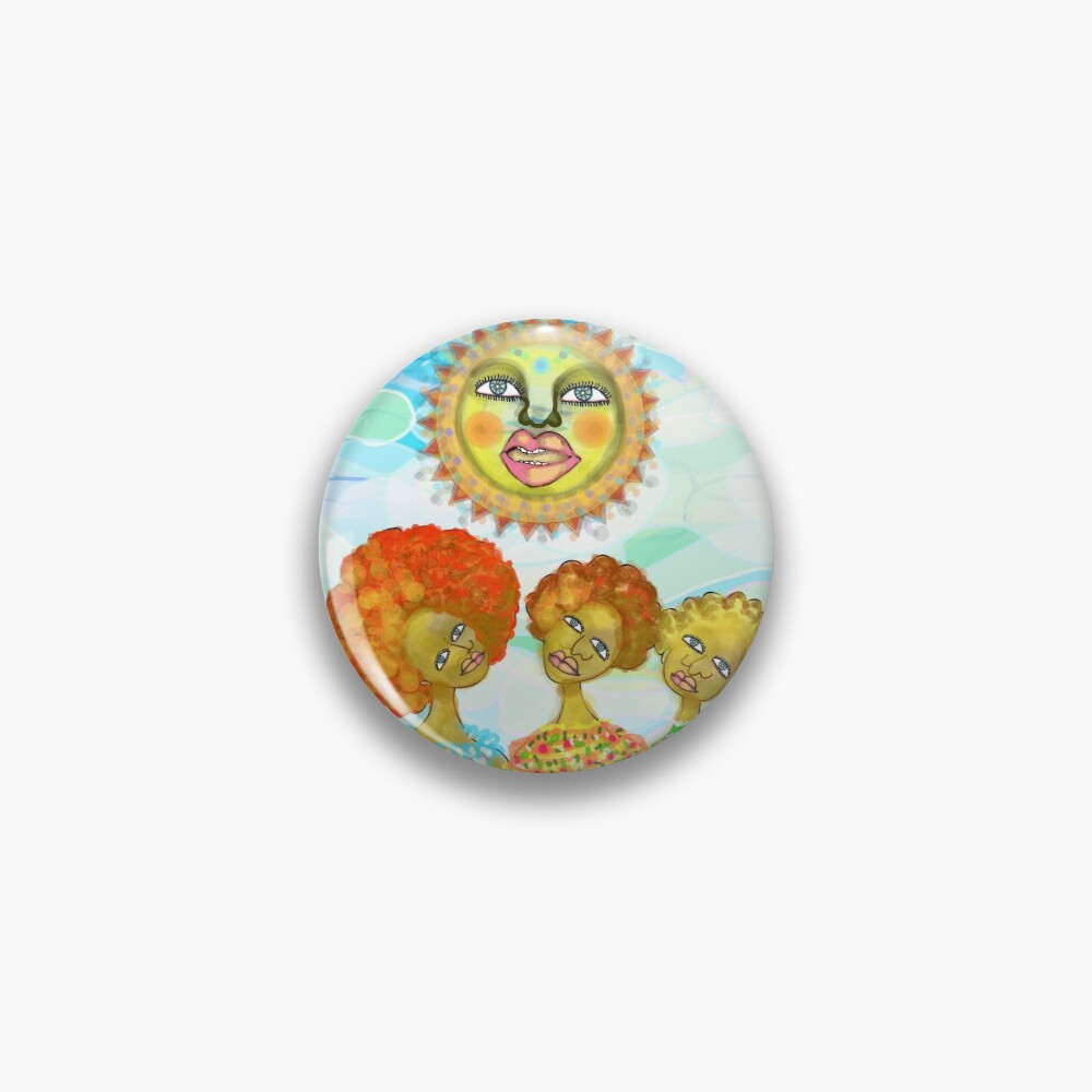 The Sun and the Afro Soul Sisters Pin