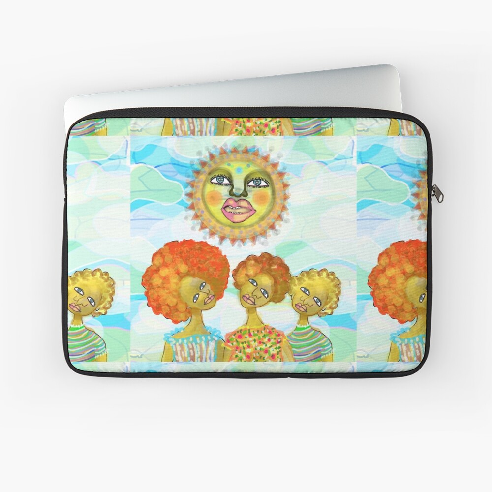The Sun and the Afro Soul Sisters Laptop Sleeve
