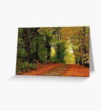 Autumnal return Greeting Card