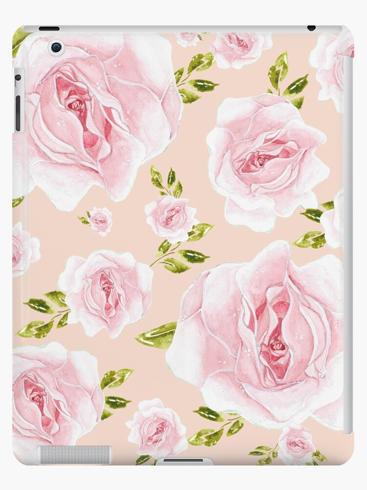 All Models Available The Pink and Yellow Floral Vine Pattern Skin Set for the Apple iPad