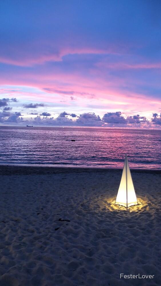 Sunset & Lantern by FesterLover