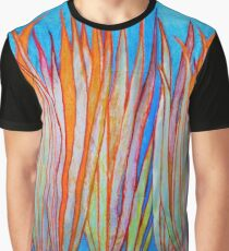 Colorful Grass Graphic T-Shirt