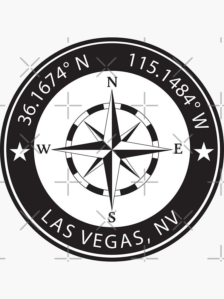 Las Vegas, Nevada Geographical Coordinates by TeeOhGraphics