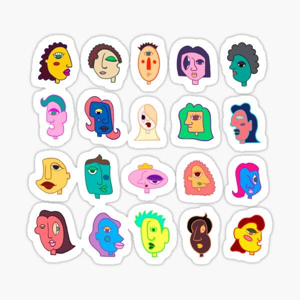 """The Faces"" illustration design Sticker"