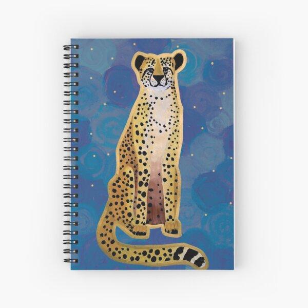 Cheetah on Blue Spiral Notebook