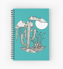 Daytime or Nighttime Desert Storms Spiral Notebook