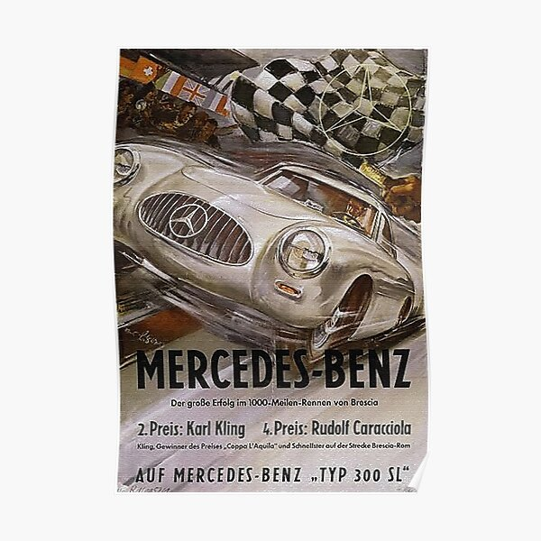 Fabulous Fifties. Mercedes Typ 300SL Poster