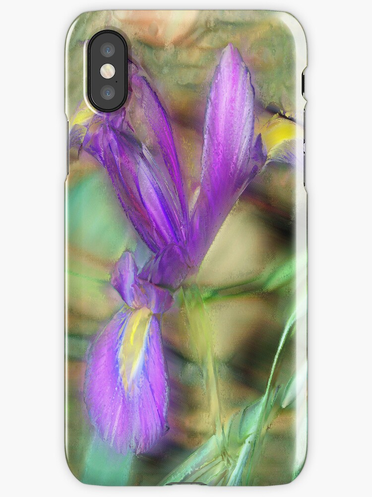 Iris Painting Effect iPhone Case by Vickie Emms