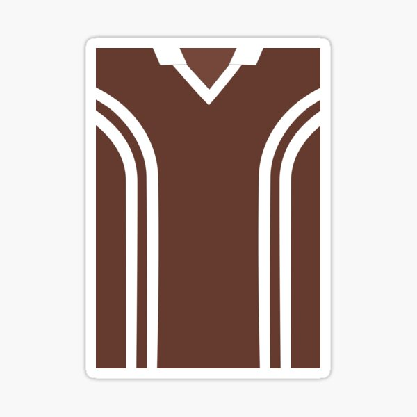 Coventry City Classic Chocolate Brown Away Kit 1978 - 1979 Sticker