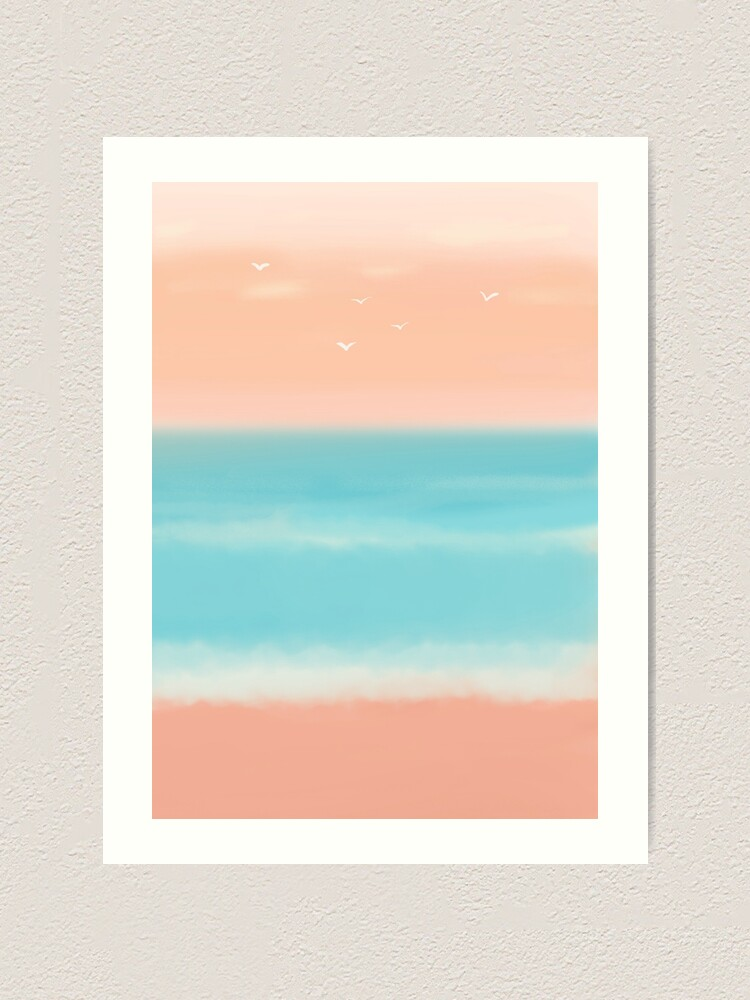 Alternate view of Sunrise on the beach Art Print