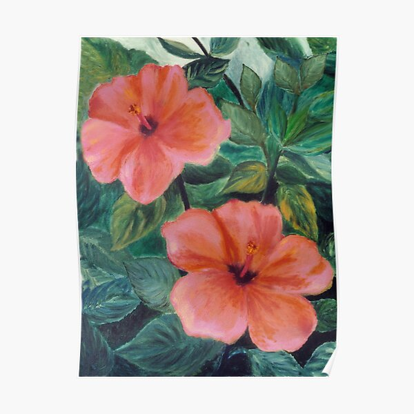 Two Hibiscus - Master Bedroom Poster