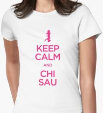 Keep Calm and Chi Sau (Wing Chun) Womens Fitted T-Shirt