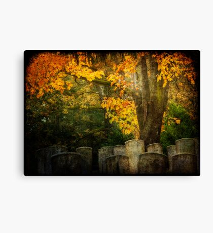 Autumn in the Cemetery Canvas Print