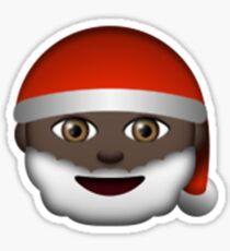 Emoji Santa Black Sticker