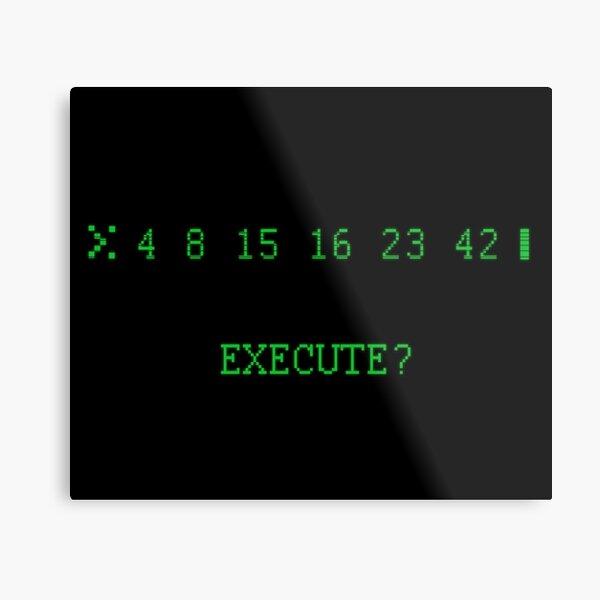 LOST: The Numbers - Execute Metal Print