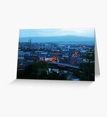 Derry at dusk Greeting Card